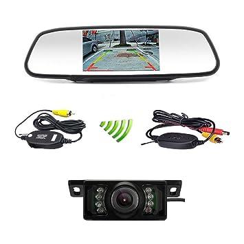 Amazon podofo car backup camera wireless 5 car tft lcd podofo car backup camera wireless 5quot car tft lcd mirror rear view monitor with ir cheapraybanclubmaster Gallery