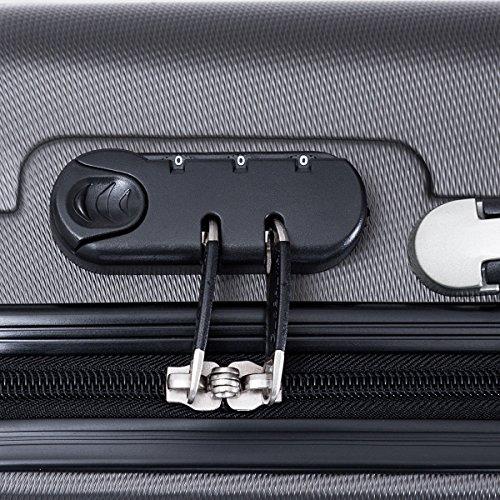 Goplus 3 Pcs Luggage Set ABS Hardshell Travel Bag Trolley Suitcase w/TSA Lock (Grey) by Goplus (Image #4)