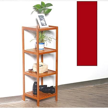 BINGFENG Librería 4 Capas Bambú Mesa Simple Suelo de Madera Maciza Librería Cómic Carto Books Librería Multicapa Estantería Creativa Moda: Amazon.es: Hogar