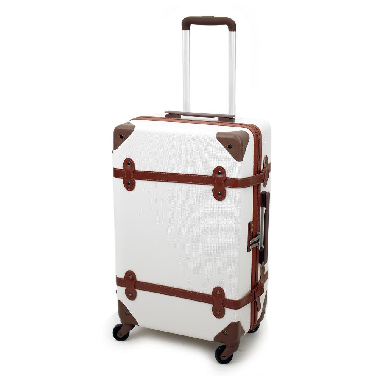 AIRWAY(エアウェイ) スーツケース トランク型キャリー 44L 2~4泊 4輪 TSAロック AW-0696-55  ホワイト B0763LTSP2