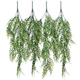 4 Pack Artificial Wall hanging plants - Artiflr Artificial Ivy Fake Hanging Vine Plants Decor Plastic Greenery for Home Wall Indoor Outdside