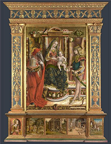 Dance Wear Costumes Catalogs (Oil Painting 'Altarpiece From S. Francesco Dei Zoccolanti, Matelica 1490, Carlo Crivelli' 24 x 31 inch / 61 x 80 cm , on High Definition HD canvas prints, Basement, Home Office And Laundry Roo decor)