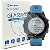 Compatible for Garmin Forerunner 945 Tempered Glass Screen Protector, Poyiccot (2pack) Ultra-Thin 9H Hardness Scratch…