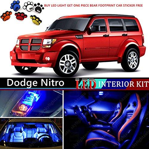 10pcs LED Premium Blue Light Interior Package Deal for Dodge Nitro 2007-2011