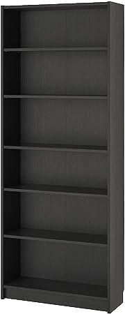 Marrone-Nero Ikea Billy Libreria 80x28x202 cm