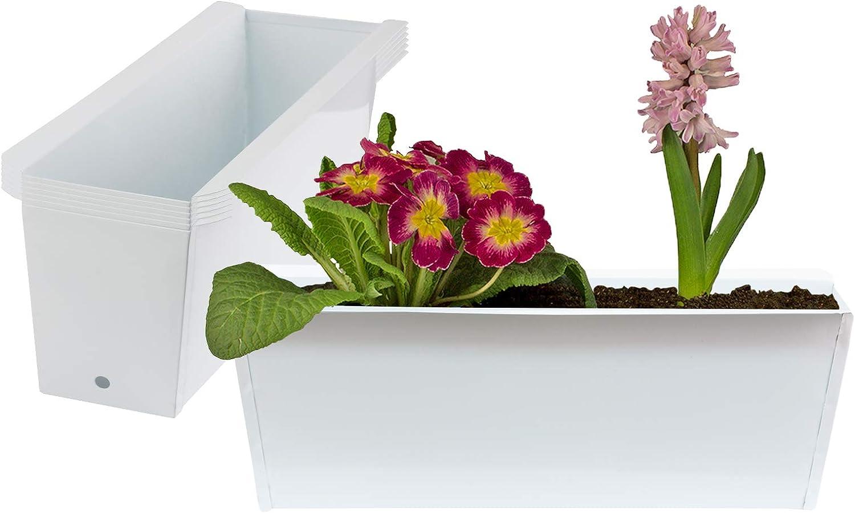 A1-120x14x28cm 2 Pflanzk/ästen Gartendeko Europaletten Pflanzschale Garten My-goodbuy24 Pflanzkasten Paletten-Deko Wandhalter Blumenregal aus Holz inkl