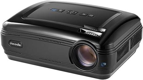 Docooler LED Proyector Home Cinema LCD 1080P 3200 Lúmenes ANSI Max ...