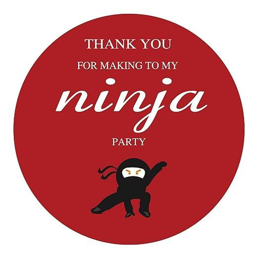 MAGJUCHE Pegatinas de Agradecimiento Ninja, temática de ...