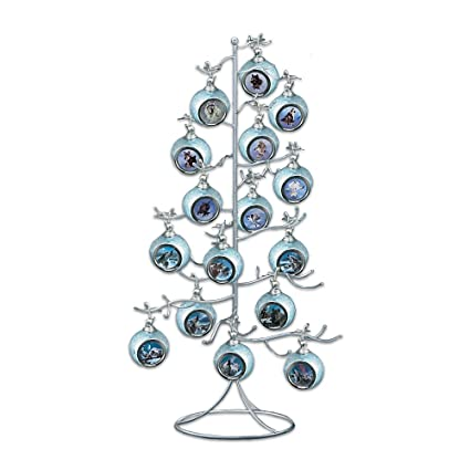 amazon com silver wire ornament tree display by the bradford rh amazon com metal christmas tree ornament holder floor standing ornament display tree - Metal Christmas Tree Ornament Display