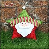 Christmas Decoration Ornaments Santa Snowman Elk Five-Star Pillow New Christmas Gift Supply Old man