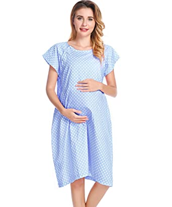 d068345882b92 Delivery Gown for Newborn Pictures New Hospital Fashion at Amazon ...