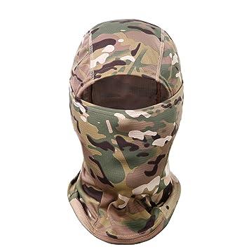 Qnlly Nueva Montura de Camuflaje Ninja Hood Máscara ...
