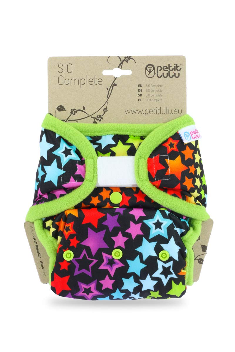 Petit Lulu SIO Complete Reusable /& Washable Hook /& Loop Colourful Orient Made in Europe