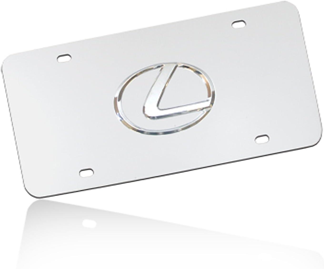 Lexus 3D Logo Chrome Stainless Steel License Plate