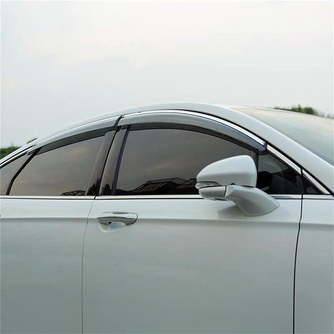 Rain//Wind Guard Smoke Tint Vent Shade Deflector Window Visors For 13-17 Fusion