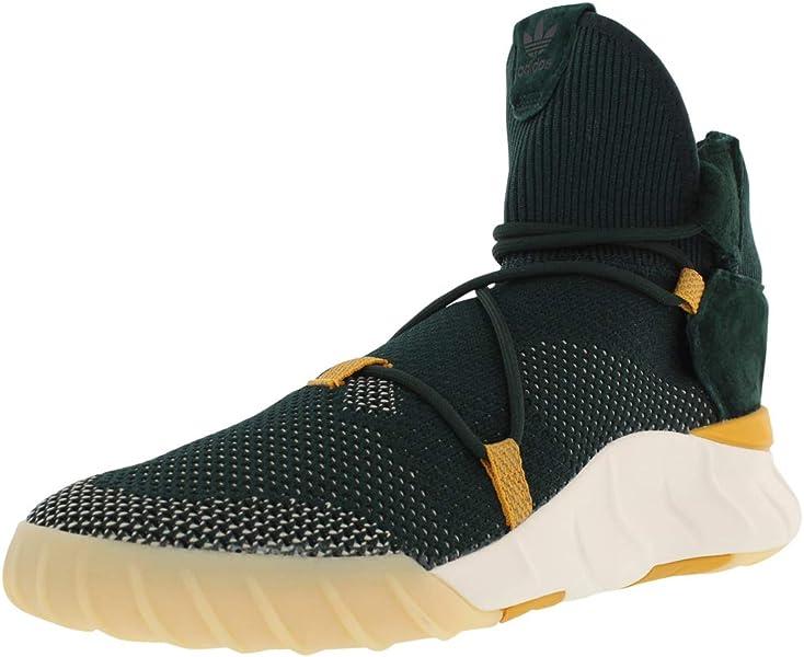 73be0559c2 adidas Originals Men's Tubular X 2.0 PK Running Shoe, Green Night/Tactile  Yellow/
