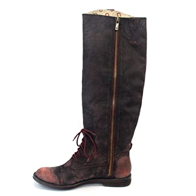 11b55244d28a Lucky Brand Vintage Style Distressed Knee High Boots for Lady UK Size 3.5