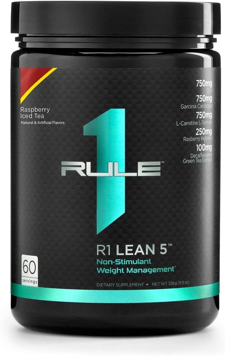 Rule One, R1 Lean5 60 Serv Raspberry Iced Tea, 336 Gram