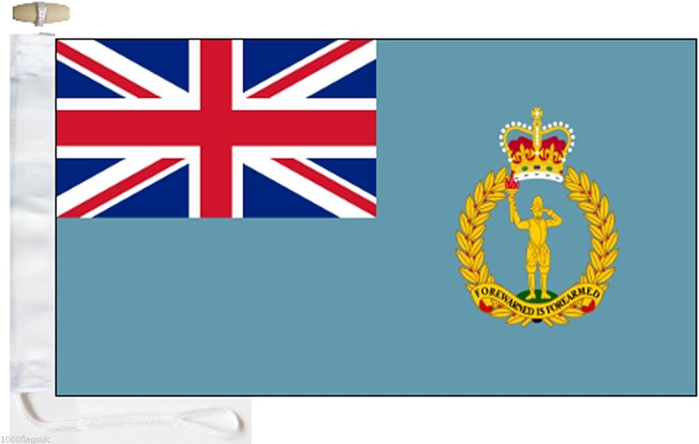 Royal Air Force RAF Royal Observer Corps Courtesy Boat Flag Roped /& Toggled