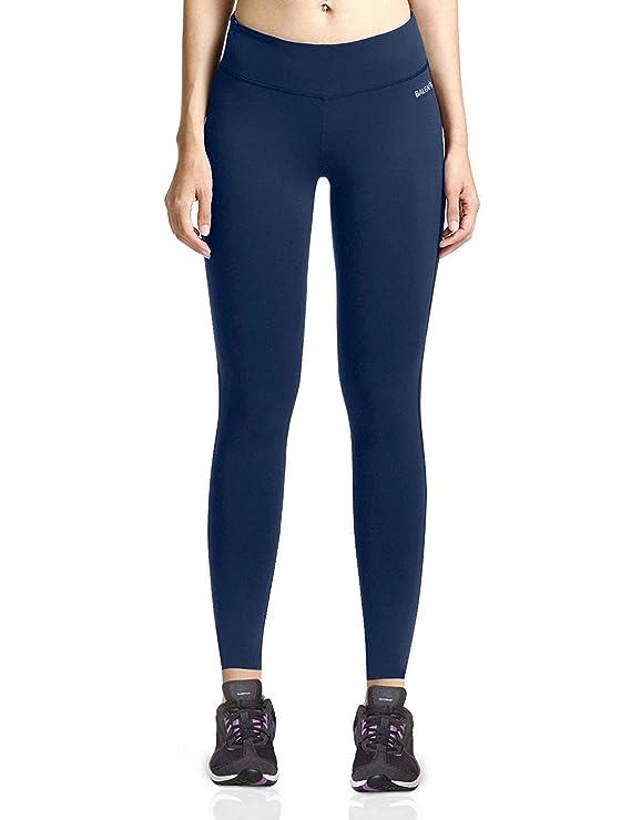 Baleaf Women's Ankle Legging Yoga Pants Inner Pocket Non See-Through Dark Blue Size M best yoga leggings