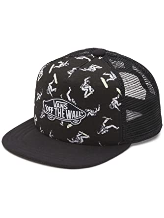 84880cc9735 Vans Hats Kids Classic Patch Plus Trucker Cap - Black CHILD ADJ.   Amazon.co.uk  Clothing