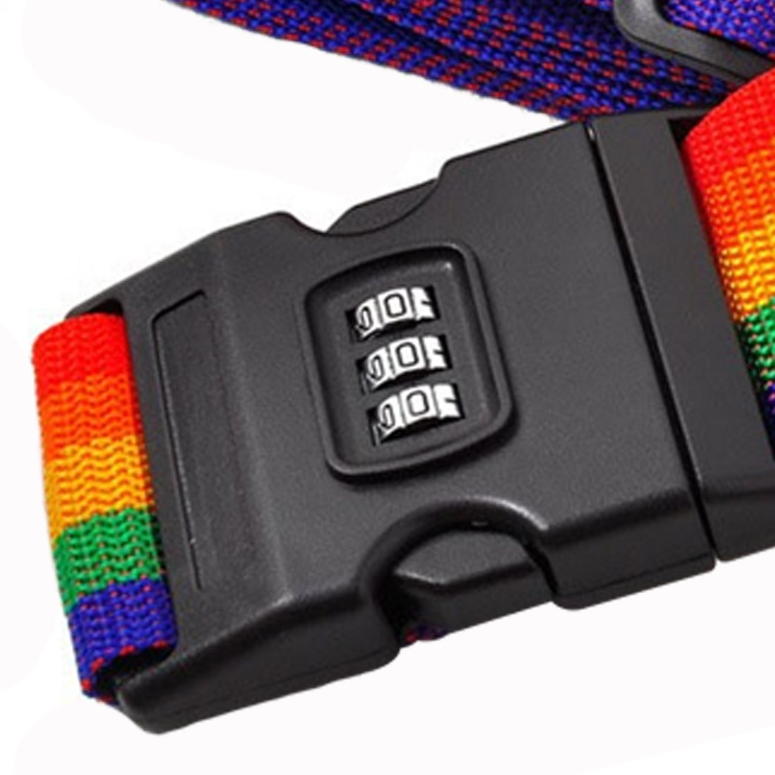 Fishing-Accessories Password Lock Adjustable Nylon Travel Luggage Backpack Bag Luggage Suitcase Straps Baggage Rainbow Belt Adjustable