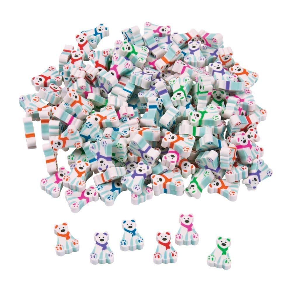 144 (1 Gross) ~ Polar Bear Mini Erasers ~ Approx. 1/2