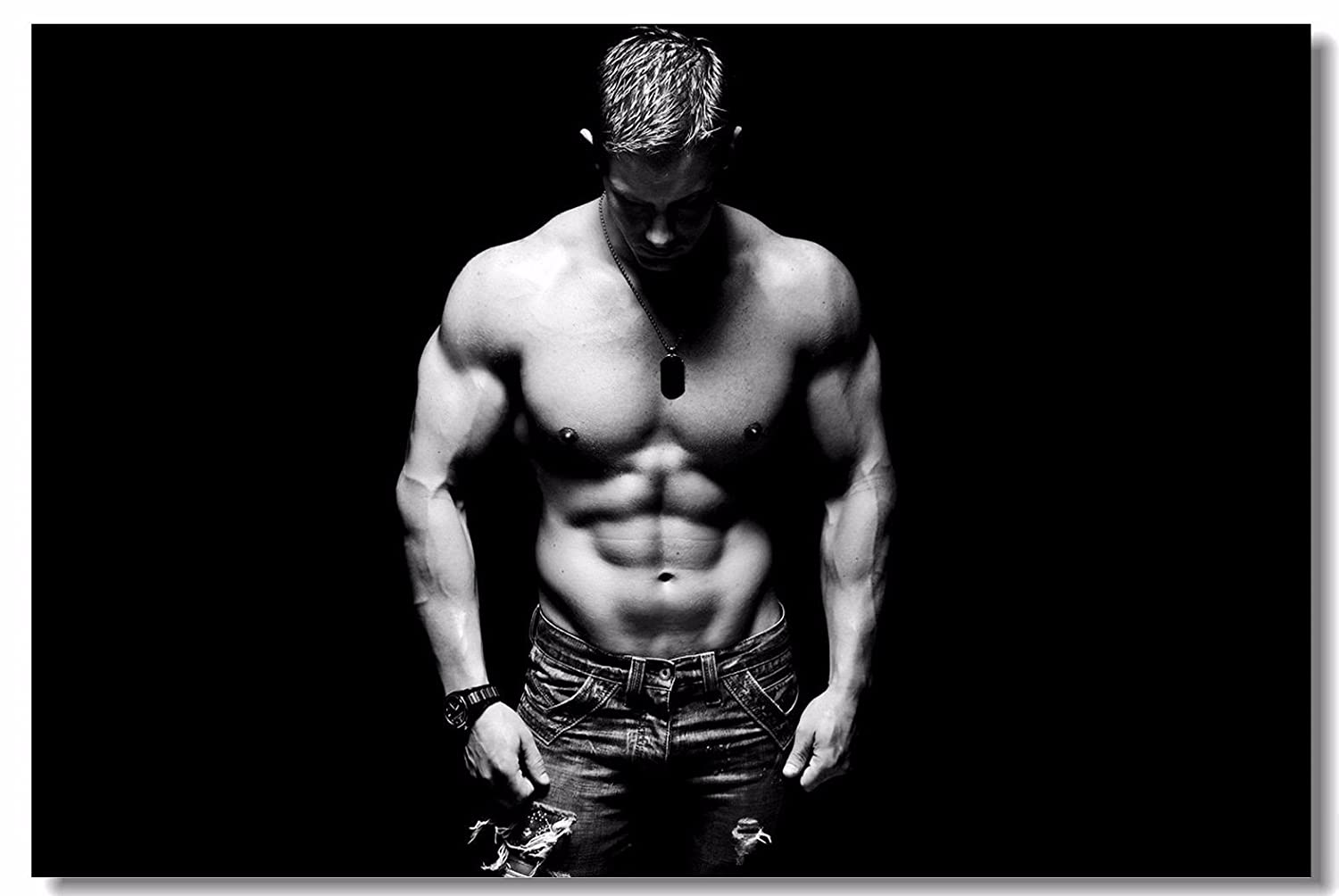 1d064ee3be Amazon.com  1x Poster Fabric Bodybuilding Men Girl Fitness Workout Quotes  Motivational Inspiration Muscle Gym Font 47x31.5