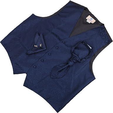 Y&G VS2015-M para hombre azul con dibujos vestido del chaleco del ...