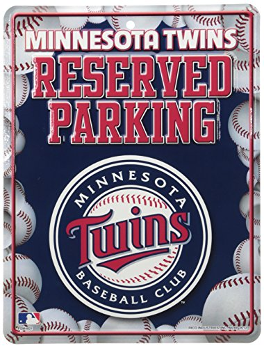 MLB Minnesota Twins Metal Parking Sign