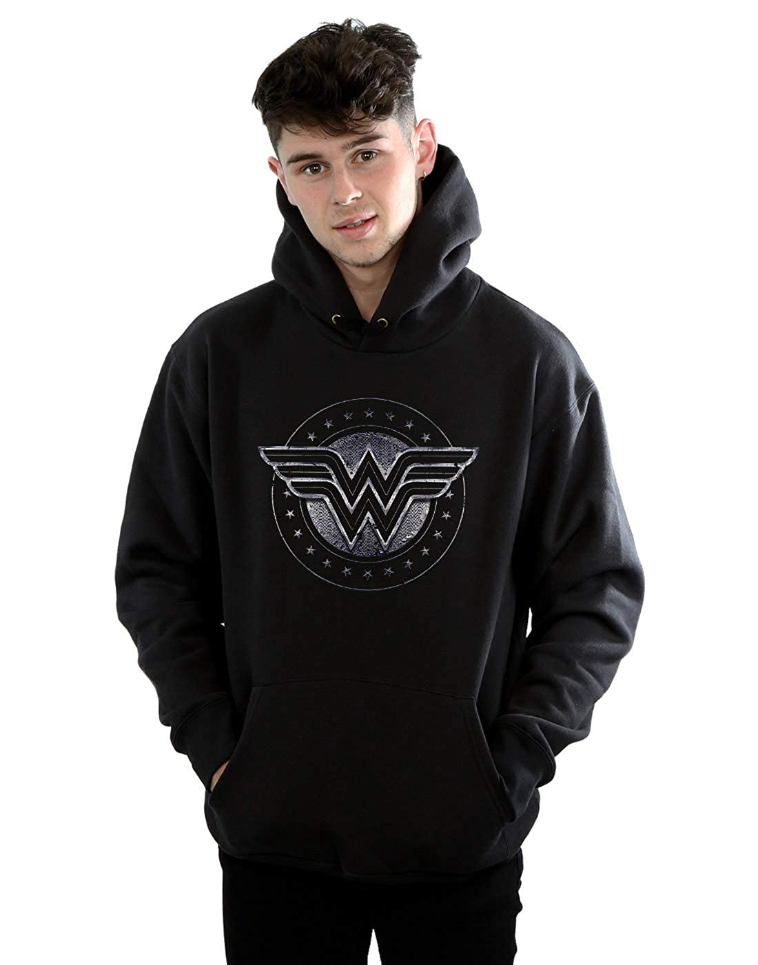 Absolute Cult DC Comics Herren Wonder Woman Star Shield Kapuzenpullover