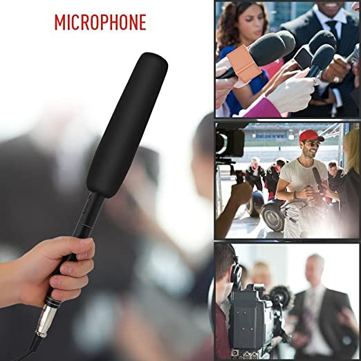 Condenser Uni-Directional Microphone for Conference Speech Stage Filming Television Vbestlife Interview Microphone 7m for DSLR Camera DV Camcorders