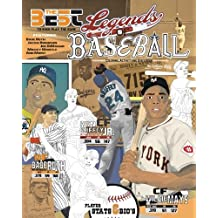 Legends of Baseball: Coloring, Activity and Stats Book for Adults and Kids: featuring: Babe Ruth, Jackie Robinson, Joe DiMaggio, Mickey Mantle and more!