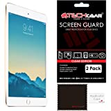 [2 Pack] TECHGEAR® Apple iPad Mini 4 CLEAR Screen Protector Guard Covers with Cloth & Applicator Card - for 4th Generation iPad Mini
