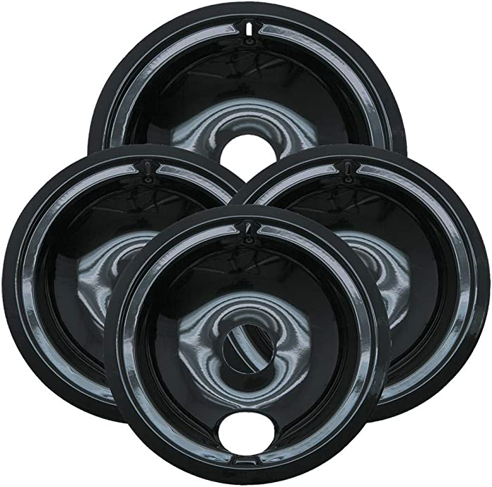 Porcelain Drip Pans 3 Small (6 Inch) and 1 Large (8 Inch)