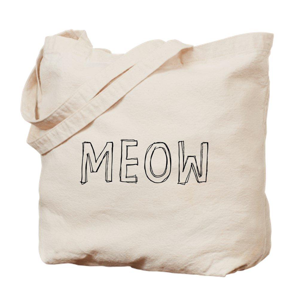 CafePress – Meow – ナチュラルキャンバストートバッグ、布ショッピングバッグ B01JNAM3A2
