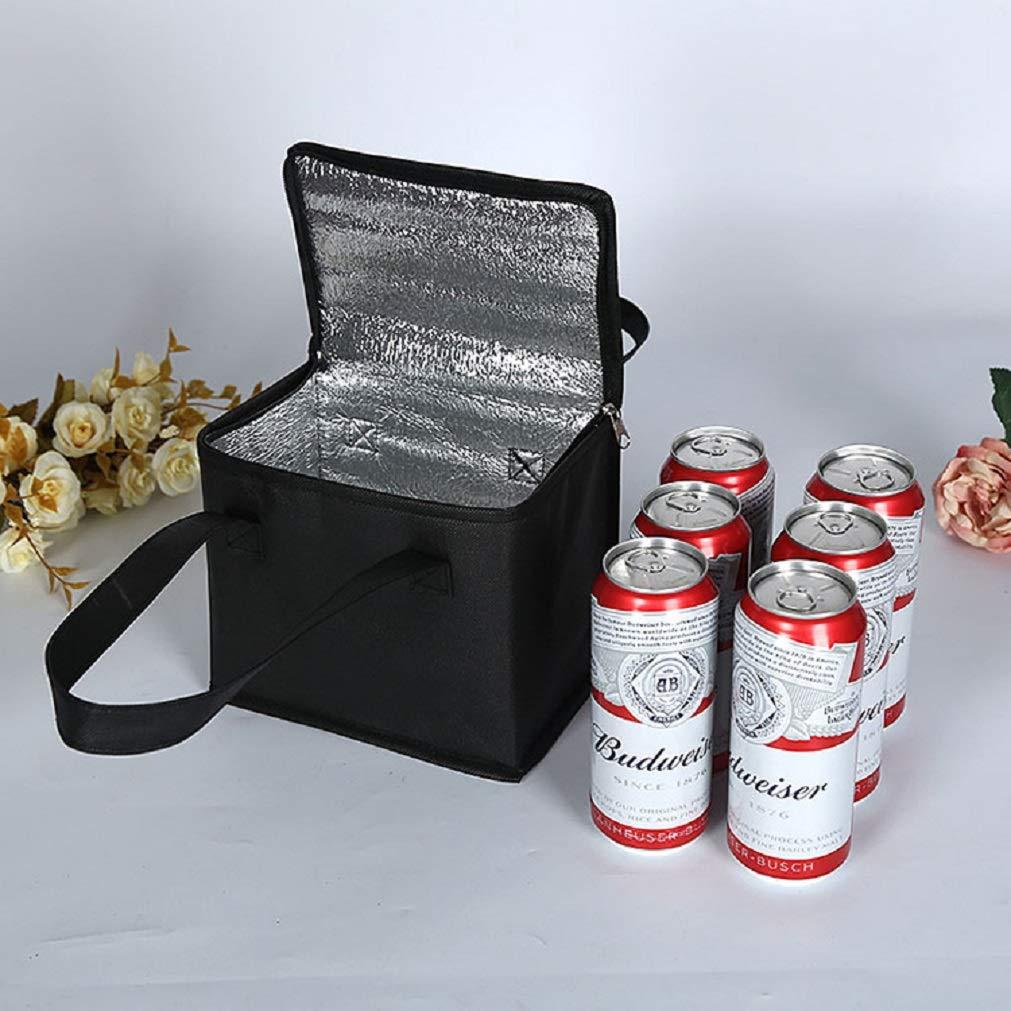 Bolsa Aislante Reutilizable para Alimentos Fr/íos y Calientes Bolsa de Almuerzo para Hombres y Mujeres en el Trabajo o en el Picnic de Viaje. Heartcheng Bolsa de Almuerzo con Bolsa Aislada