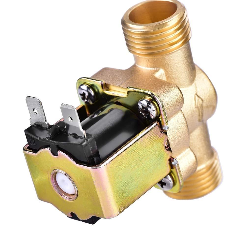 1//2V/álvula solenoide el/éctrica de lat/ón normalmente cerrada para control de agua CA 220V // DC 24V Edition : AC 220V V/álvula solenoide