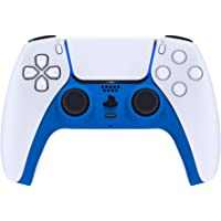 eXtremeRate Blue Decorative Trim Shell for DualSense 5 Controller, Soft Touch DIY Replacement Clip Shell for PS5…