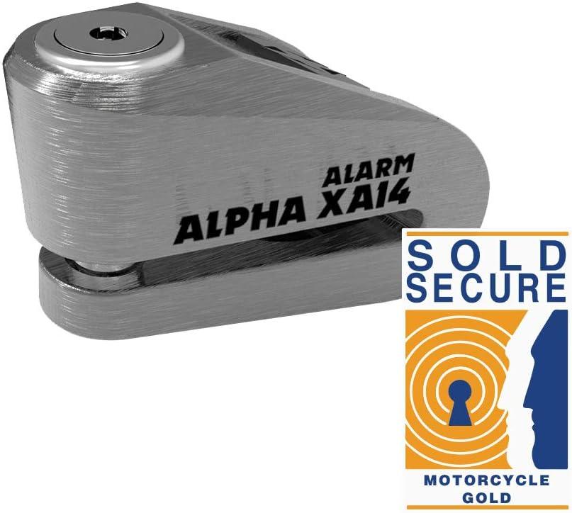 Oxford LK277 Black Alpha XA14 Alarm Disc Lock
