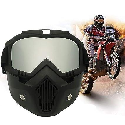 Máscara de Casco para Motocicleta, Gafas de Sol a Prueba de ...