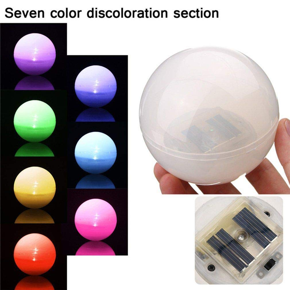 Solar Floating Underwater LED Discoloration Light Lamp for Swimming Pool Garden