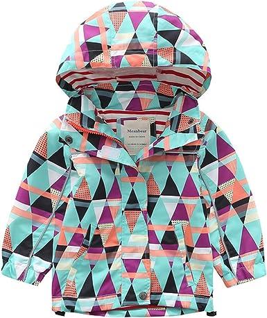 XINXINHAIHE Kid Baby Boy Long Sleeve Print Windbreaker Hooded Outerwear Full Zip Jacket