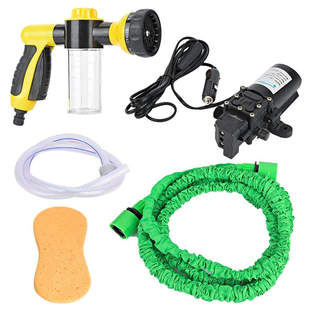 Suuonee Car Washing Sprayer, High Pressure Single Pump High Pressure Car Foam Watering Sprayer Kit Hose Nozzle Hand Sprayer