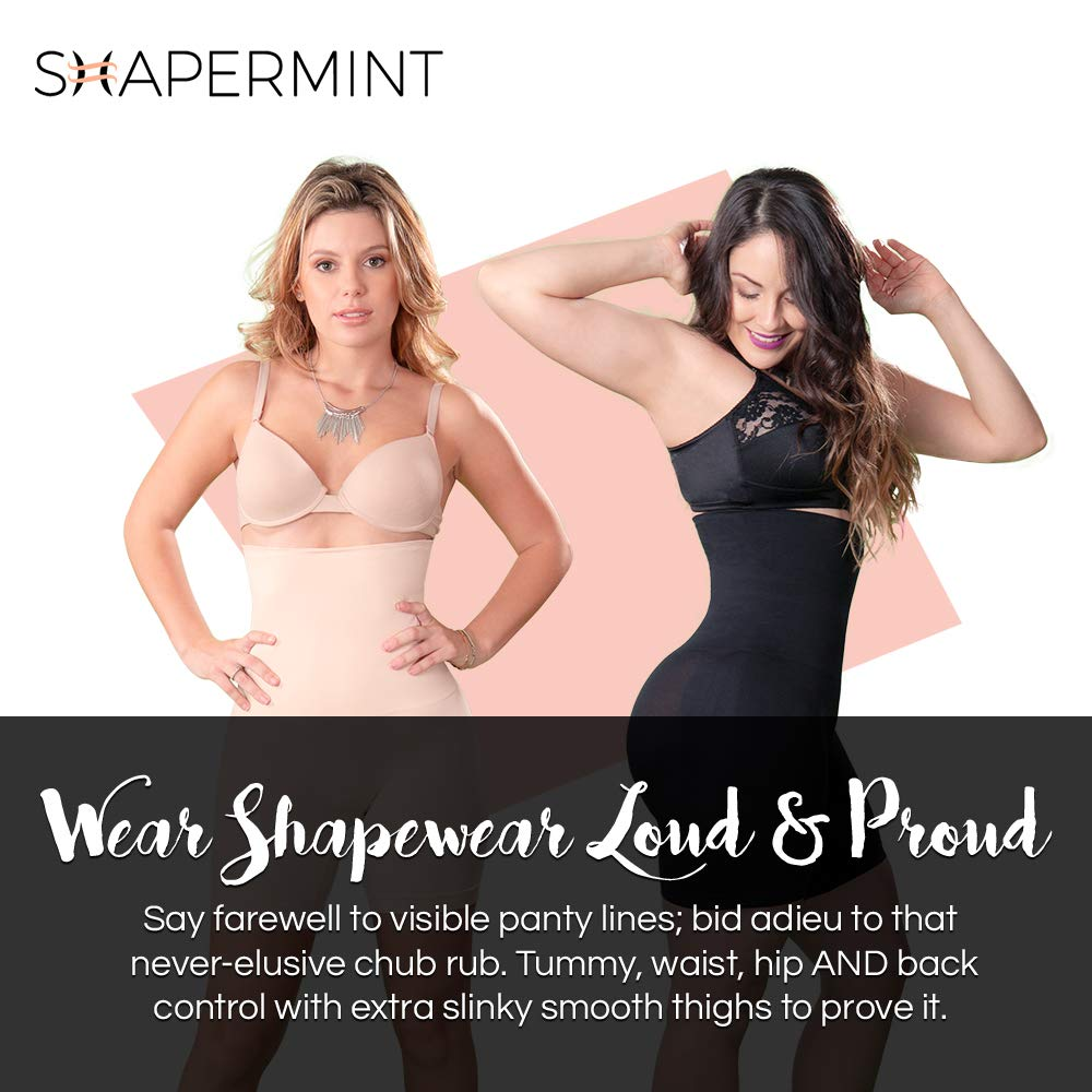 6b8f9c8084 Shapermint  Empetua All Day Every Day High-Waisted Shaper Shorts - Body  Shaper at Amazon Women s Clothing store