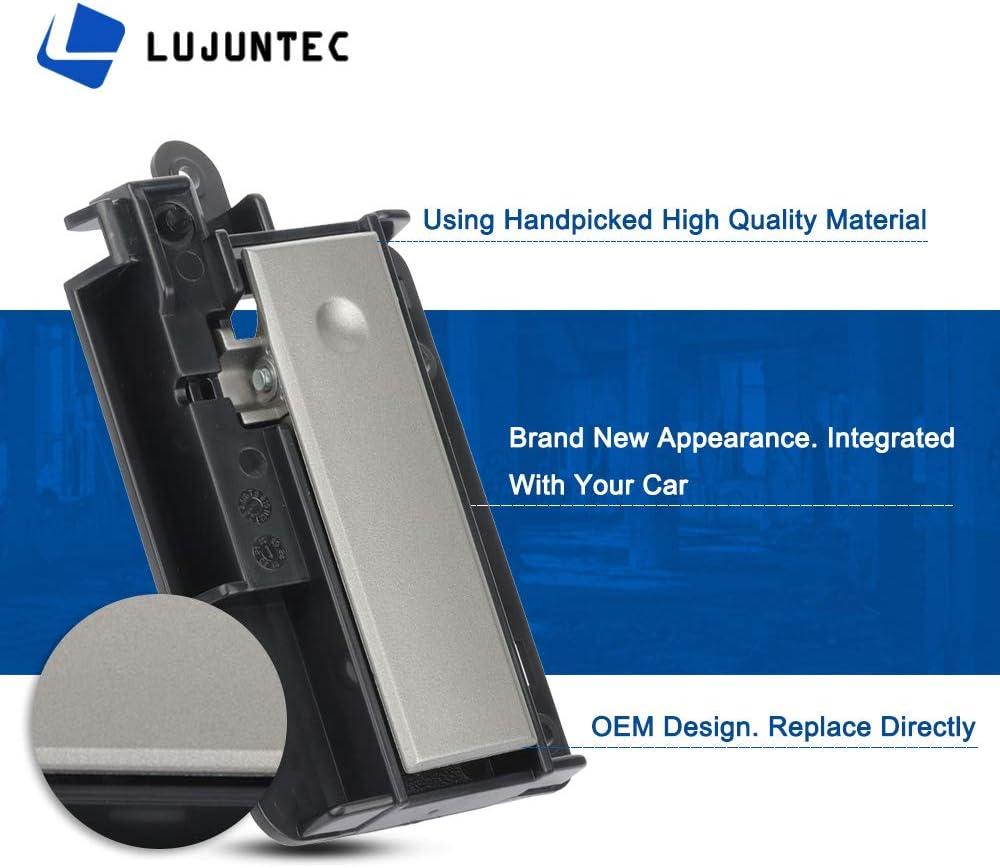 LUJUNTEC Upper Glove Box Latch Door Handle Replacement fit for 2007-2013 Chevrolet Silverado GMC Sierra 1500 2500 HD 3500 HD Chrome Black
