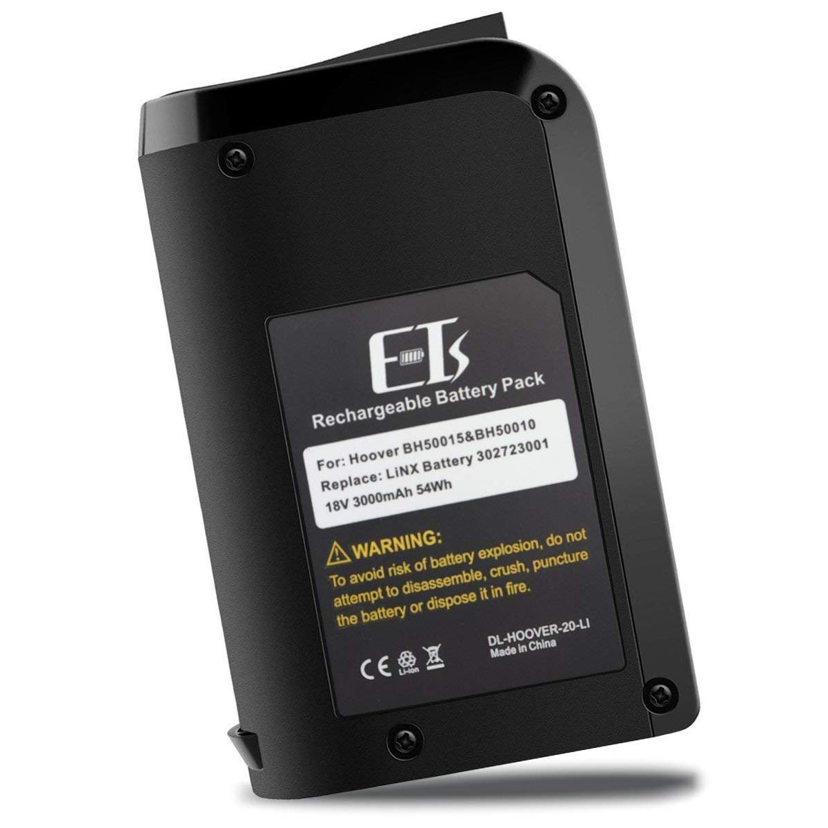 E-TS Upgraded 3000mAh Hoover 18V Battery Replacement Hoover Battery Compatible with Hoover Battery BH50010 & BH50015 Series Vacuums