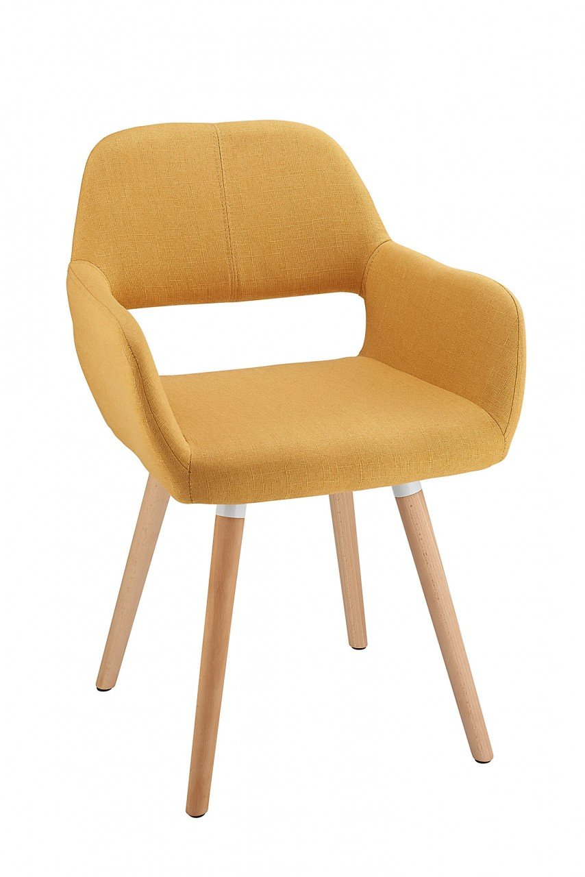 Costantino Oslo Fabric Dining Chair Yellow