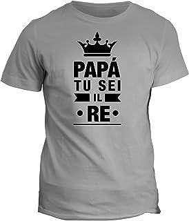 fashwork Tshirt papà tu Sei Il re - Love - Happy Father's Day - in Cotone by fshX30