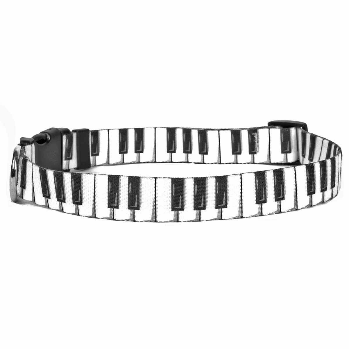Yellow Dog Design Piano Keys Dog Collar, Teacup-3/8 Wide and fits Neck Sizes 4 to 9''